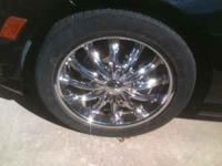 MERCEDES C-300 CHROME RIMS, 4 MONTHS OLD, VERY NICE,