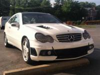 Up for sale is a Mercedes c230k with a super nice body