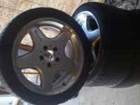 Amg wheels off 2001 Mercedes clk430 front tires at