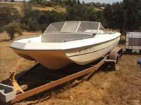 mercruiser 4cylinder total engine running. it comes