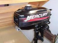 $400.00 Mercury 3.3hp four stroke outboard, runs good