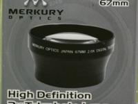 Mercury Optics 2x high def telephoto lens, brand new