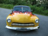 1951 MERCURY 2 DOOR COUPE CUSTOM LEAD SLED. HAS 10,000