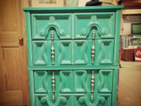Mermaid green vintage cabinet with an awesome mint