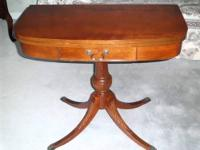 A USED mid (1930) MERSMAN 7380 Cheery folding Table,