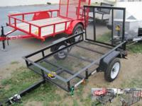 Carry-On 46 2K Mesh Trailer GVW: 2000 LBS Empty Weight: