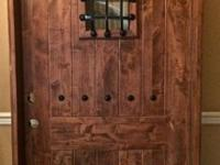 "New Mesquite Wood Door, 38 x 861/2"", with complete"