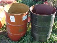 These are open top metal barrels with no lids. Price of