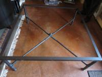 High End heavy duty metal Table - Glass is 1 inch