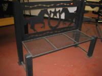 This bench is for horse lovers! 4 ft long x 20 inches