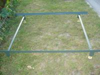 Nice heavy duty metal bed frame locks into place, very