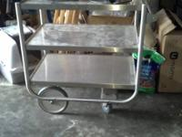 I have a metal beverage cart that I bought a few years