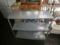Metal Gray Book Case 3 Shelves $8.00 Robins Roost