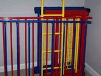 For sale, multi colored metal bunk beds with roller