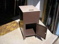 "For Sale: Metal filing cabinet. It is 22"" high, 14"""