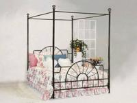 Super buy metal canopy bed only $102.00 queen size.
