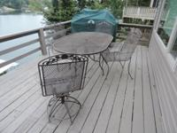 I have a metal set of deck furniture table and 4 chairs