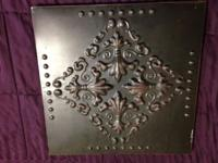 "Metal Deco Art Item 182808 14"" wide x 14"" tall x 3 1/4"""