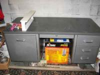 Metal Office Style Desk - $50 - You must pick-up --