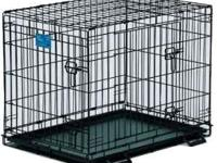 I have two black metal dog crates for sale. The big one