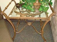 metal end table & sofa table set - decorative metal