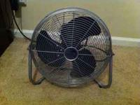 This fan has 3 speed levels and produces a great amount