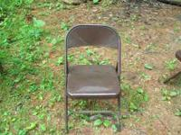 I HAVE 4 METAL CHAIRS ALL BROWN GREAT SHAPE $15 A PIECE