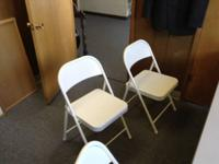 I have 10 white metal folding chairs. I am asking $8
