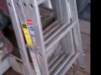 We have a nice metal folding ladder that we don't use