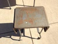 i have a nice older made metal desk or table with