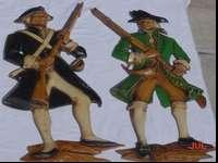 This is a pair of beautiful hanging colonial soldiers
