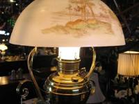 "Metal Hanging Oil Lamp/Light ""Juno"" Converted to"