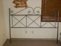 Nice near new metal headboard. Paid over $150 at