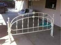Metal head board and footboard for a king size bed $60