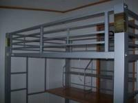Full Size Metal Loft Bed. Purchased at Waterbed and