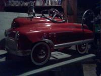 Old and in great condition Fire Truck Pedal Car!! Don't