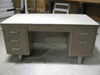 Heavy duty metal office desk in great condition. Call