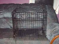 I have a small metal pet crate with a slide out tray on