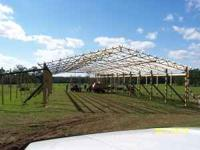 New Metal Pole barn trusses. Can build any size needed.