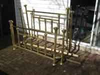 Queen size metal bed -- includes headboard, tailboard
