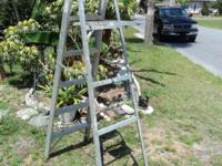 Works great, good sturdy ladder 8 ft Made by Werner