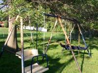 I have a metal swing set that has rust but other than