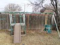 Metal swingset for sale! Moving out of town and cannot
