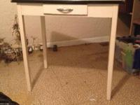Old metal great white table in excellent condition. I