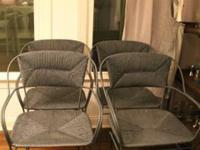 I have 4 Metal/Wicker chairs for sale. The wicker is in