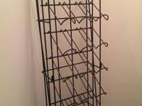 Tall metal wine display rack, commercial, excellent