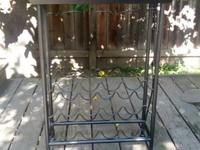 Wine rack in very good used condition.  Sturdy, made of