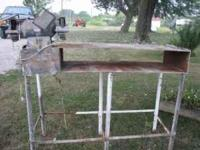 I have for sale a metal work bench. It does have a