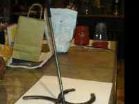 Metal horseshoe fiddle stand. Will make to order. $25.