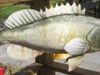 TWO(2) METAL FISH ART, BASS? 38 INCHES LONG, 11 INCHES